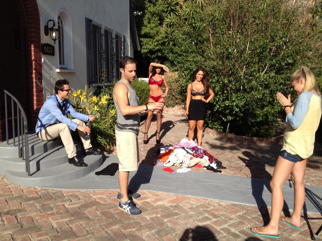 Directing Stephen Colletti, Carissa Rosario, Genevieve Morton, Aria London, and Raven Lexy