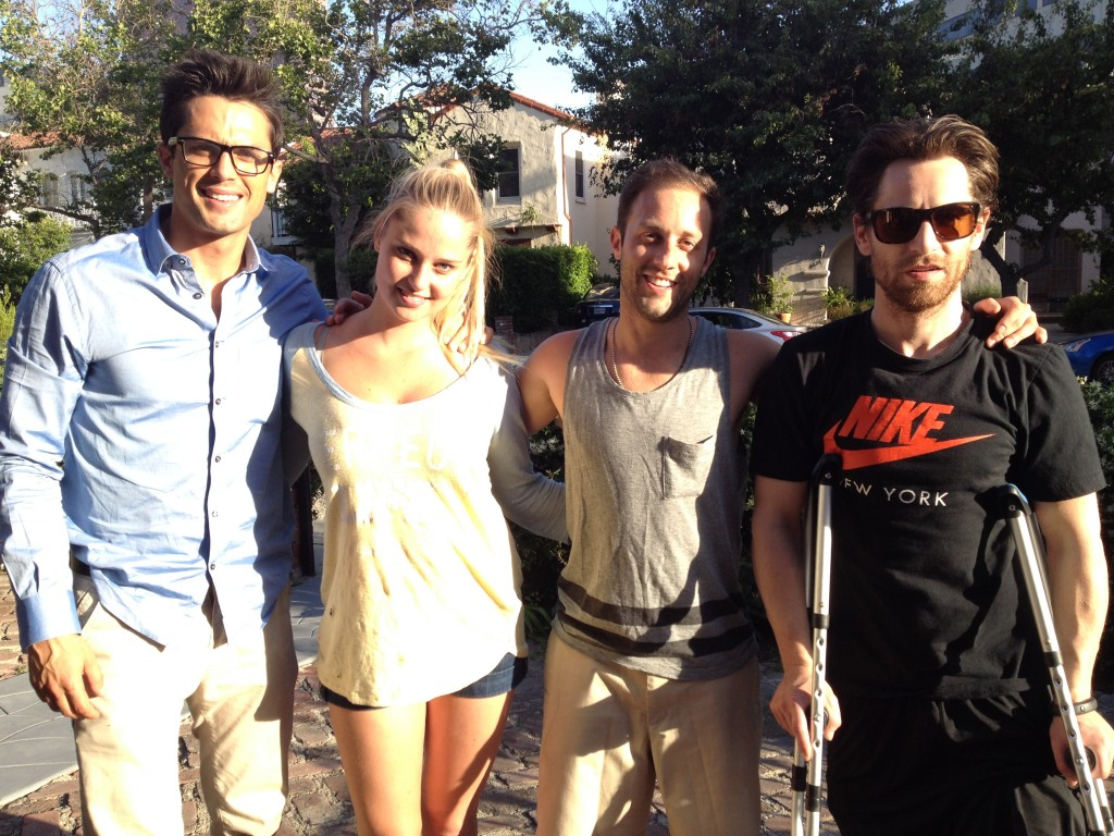 Stephen Colletti, Genevieve Morton and Brian Patrick Read
